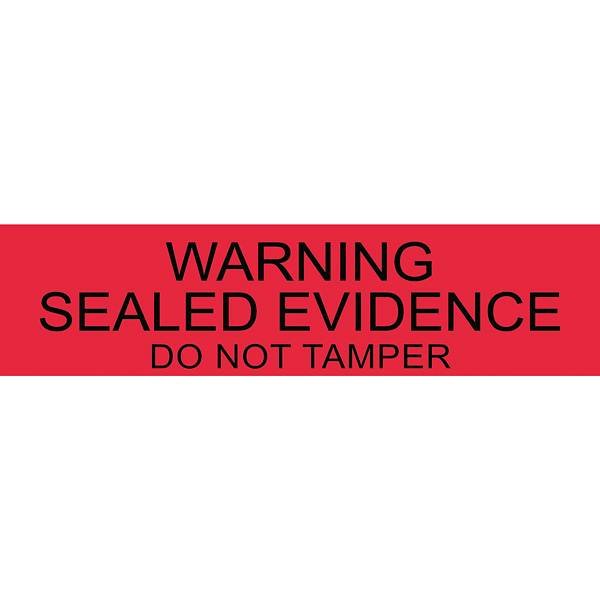 warning sealed evidence 250 pcs welcome by loci forensics b v