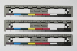 Adhesive Photo Evidence sticker, 15 cm, with metric-, colour- and greyscale, 100 pcs