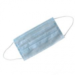 Surgical mask, non-woven, 3-layers, with elastic, blue, 50 pcs